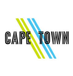 Cape town sticker vector