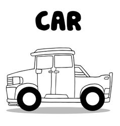 Collection of car wirth hand draw vector