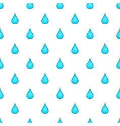 Drop of water pattern cartoon style vector image vector image