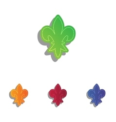 Elements for design colorfull applique icons set vector