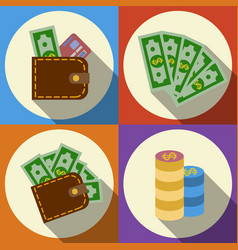 Finance and money icon set vector