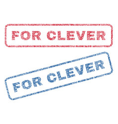 For clever textile stamps vector