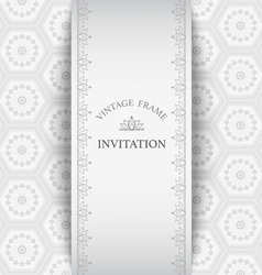 Frame vintage gray background elements pattern vector