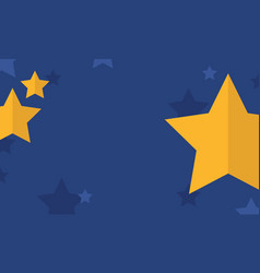 Gold star on blue background style vector