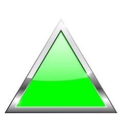Green triangle with chrome frame vector
