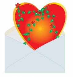 heart in the mail envelope vector image