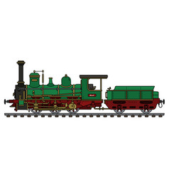 historical green steam locomotive vector image vector image