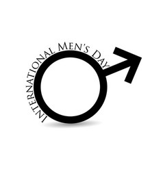 international mens day mars symbol male sign is vector image vector image