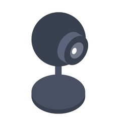Isometric web camera icon isolated on a white vector