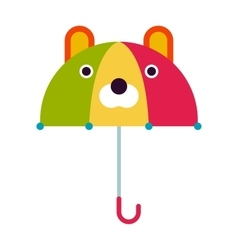 Kids umbrella vector