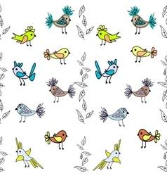 Little cute birds seamless pattern abstract vector