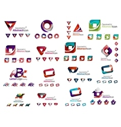 Mega collection of various abstract business vector image