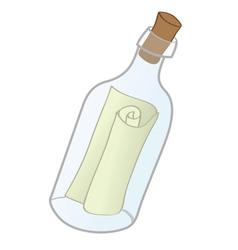 messge in bottle vector image