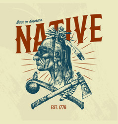 Native indian traditions t-shirt national vector
