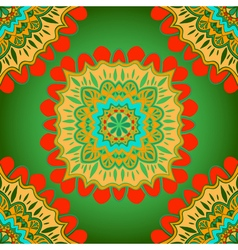 Oriental colorful ornament vector image