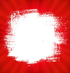 Red Poster With Blot vector image