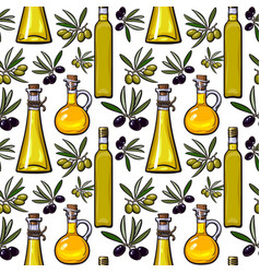 Seamless pattern backdrop design of olive vector
