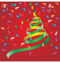 Shiny streamers or party serpentine vector