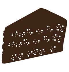 Silhouette of a piece of cake vector