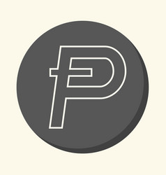 Symbol of digital crypto currency potcoin round vector