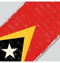 Timor-Leste grunge flag vector image vector image