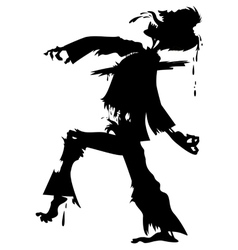 walking zombie silhouette2 vector image