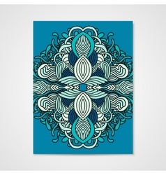 Abstract poster with hand drawn ornament vector
