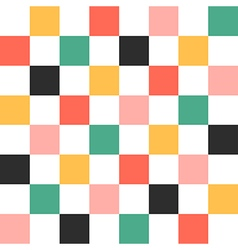 Colorful Chess Board Background vector image