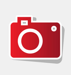 digital camera sign new year reddish icon vector image