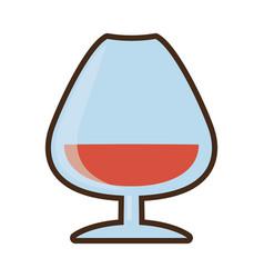 cartoon cognac glass cup drink vector image