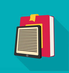 E-book reader and modern education by technology vector