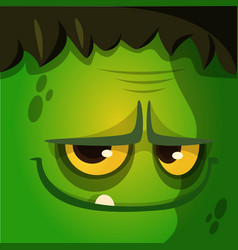 cartoon halloween zombie avatar vector image