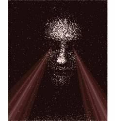 laser eyes vector image