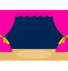 Pink theater background with copy space vector
