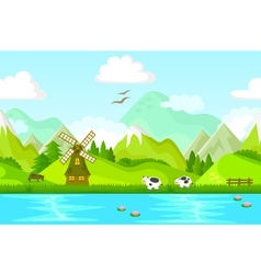 Landscape small vector