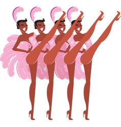 Showgirls vector