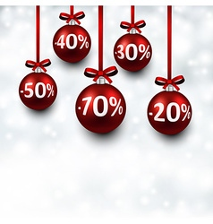 Sale background with christmas balls vector