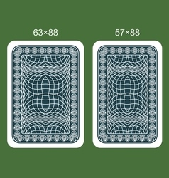 Back design playing card vector image