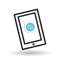 Buy online over white background mobile icon vector