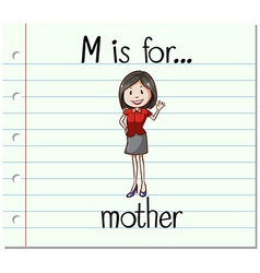 Alphabet m is for mother vector