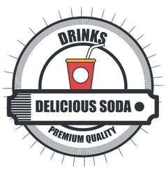 Soda drink beverage vector