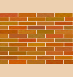 a fragment of a wall made of brown bricks vector image vector image