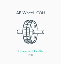 Ab wheel icon on white background vector