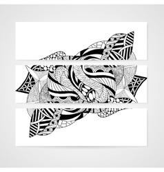 Banner with abstract hand-drawn pattern vector
