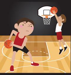 Basketball player cartoon vector