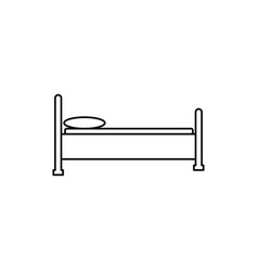 bed icon vector image