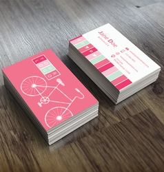 Bike Themed Business Card Template vector image vector image