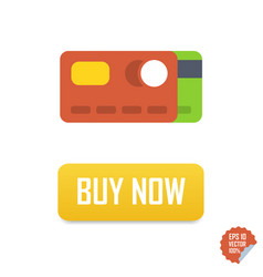 Buy now button with credit cards buy now vector