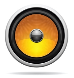 car loudspeaker icon vector image