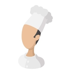 Chef cook avatar cartoon icon vector image